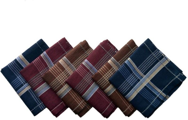 Kuber Industries Business Border Handkerchief(Pack of 6) Business Border