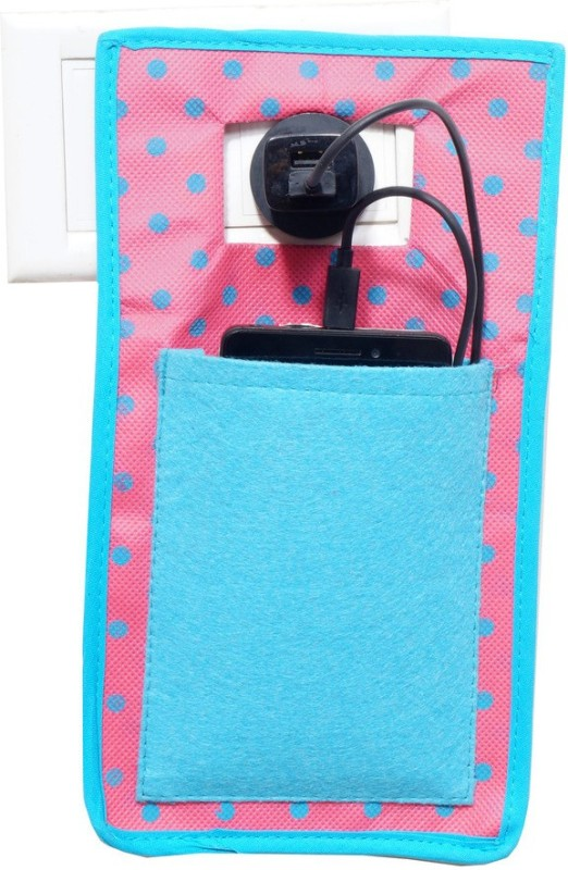 Pretty Krafts Mobile Holder during Charging - Travel Assist Stand - Mobile Carrying Bag/Accesory - Cellphone Cover _Blue Accessories Organizer( )