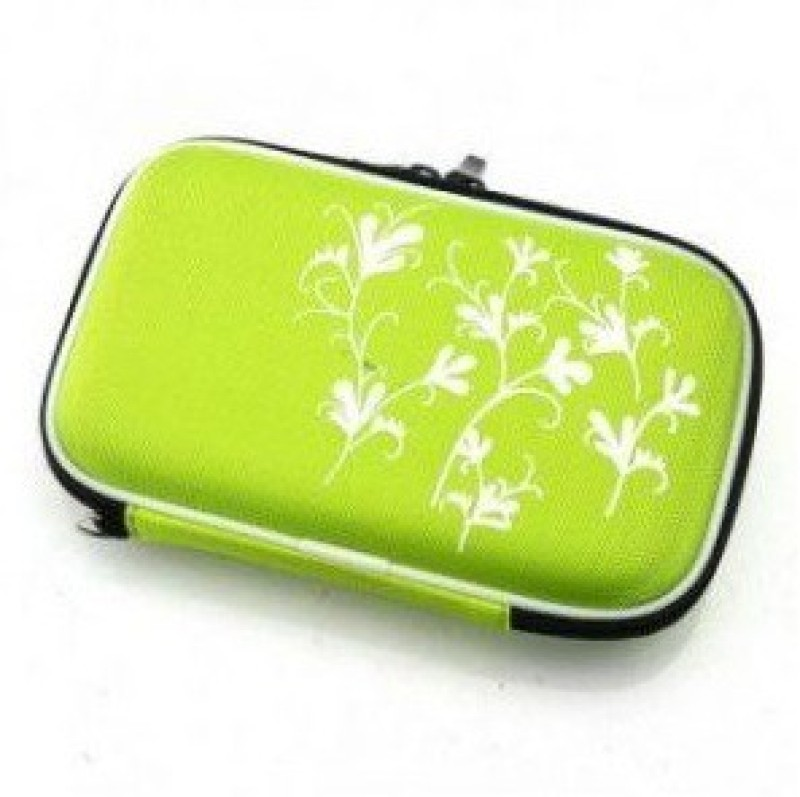 TechGear Case Bag For 2.5 Inch Zipper Pouch Hard Disk Skin(Green)
