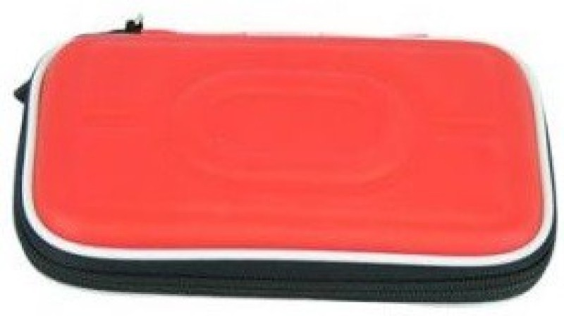 TechGear Case Bag For 2.5 Inch Portable Hdd Pouch Hard Disk Skin(Red)