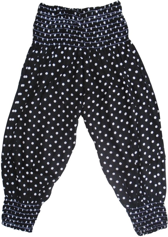 Sweet Angel Polka Print Cotton Girls Harem Pants
