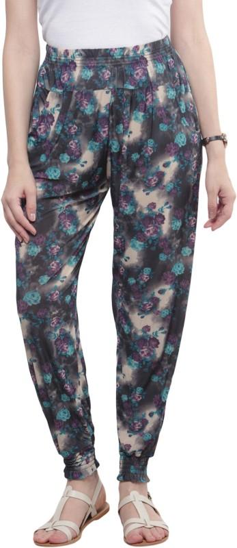 Sakhi Sang Floral Print Polyester Womens Harem Pants