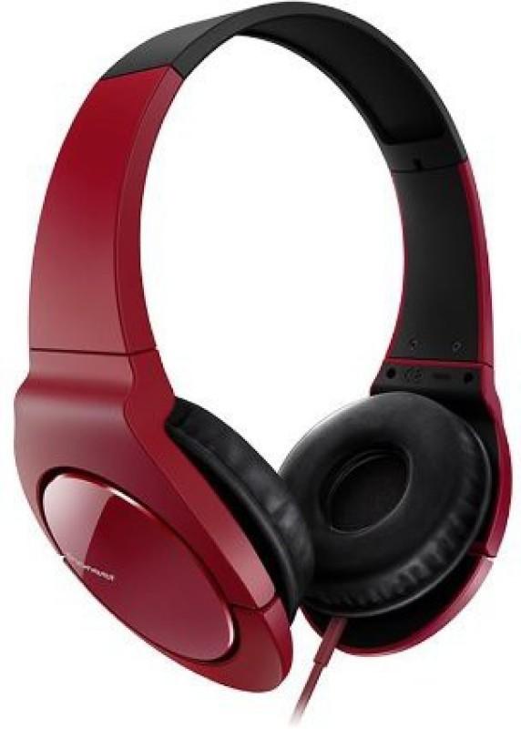 Pioneer Head Band Closed Dynamic Stereo Headphones   Se-Mj721-R (Japanese Import) Headphone(Maroon)