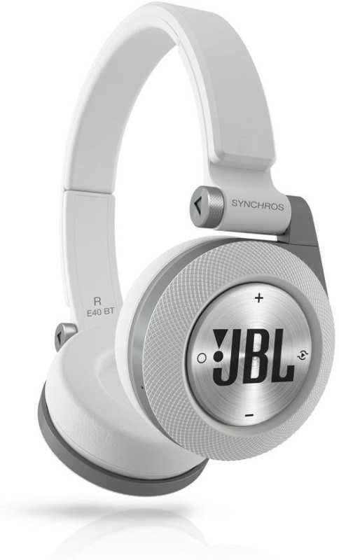 JBL Synchros E40 BT Wireless bluetooth Headphone(White, On the Ear)