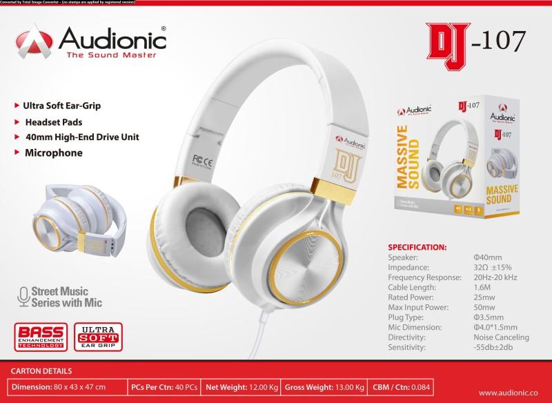f5fb3320a77 Audionic DJ-107 Headphone(Black, On the Ear)