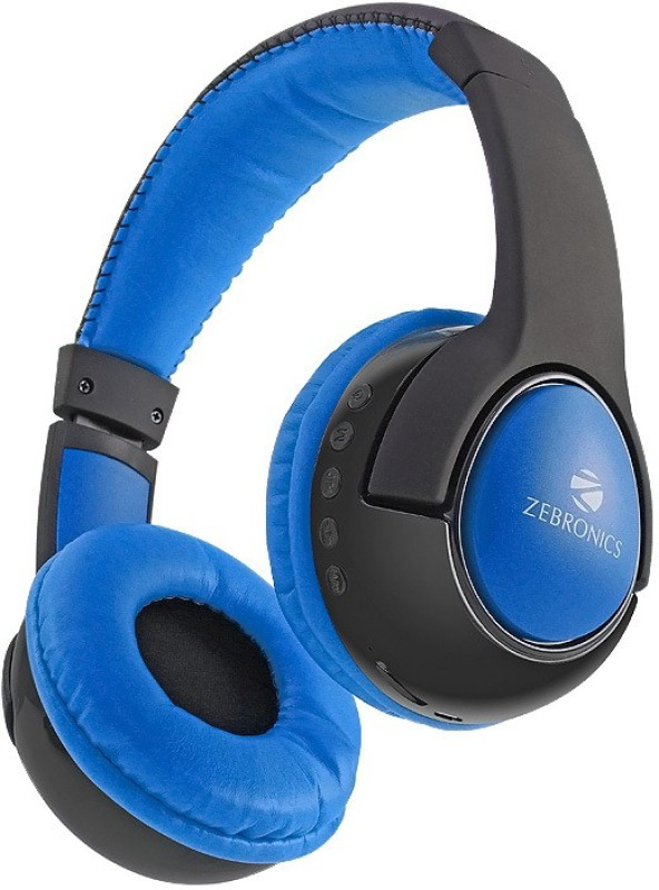 Zebronics TARANG Wireless bluetooth Headphone(Blue, On the Ear)