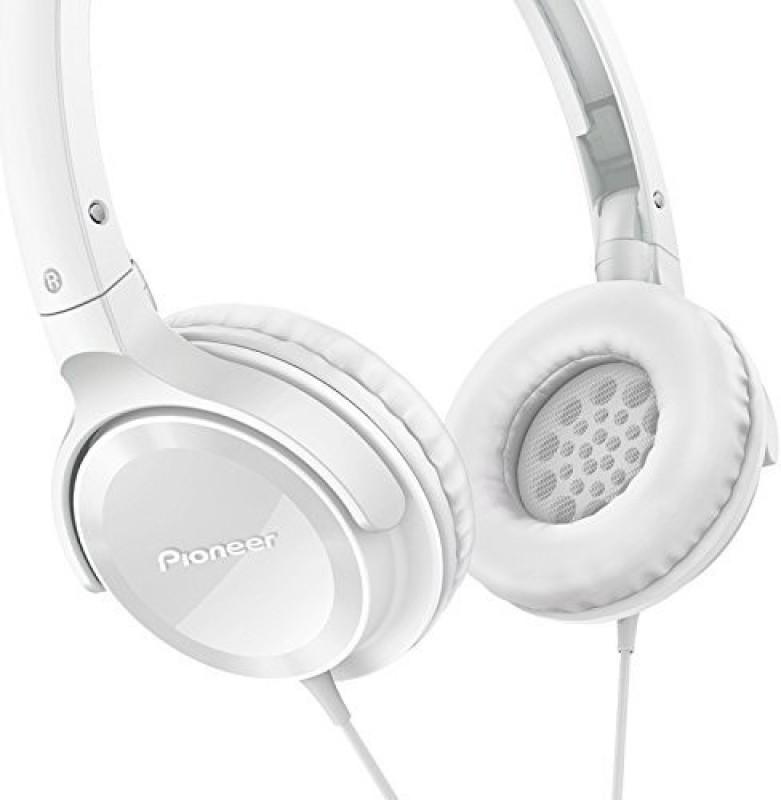Pioneer Se-Mj502-W Se-Mj502 Fully Enclosed Dynamic Headphones Semj502 Headphone(White)