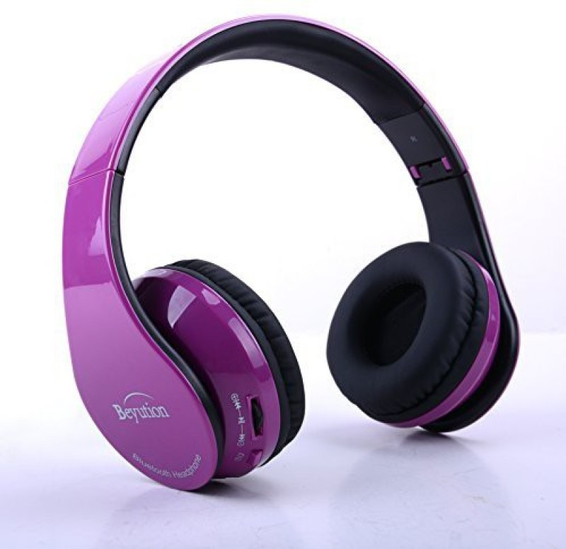 Beyution Brand New Deep Hi-Fi Over-Ear Stereo Bluetooth Headphones V4.0--Built In Mic-Phone Talk With Phone Or Listen Music Clearly, Built Headphone(Purple)