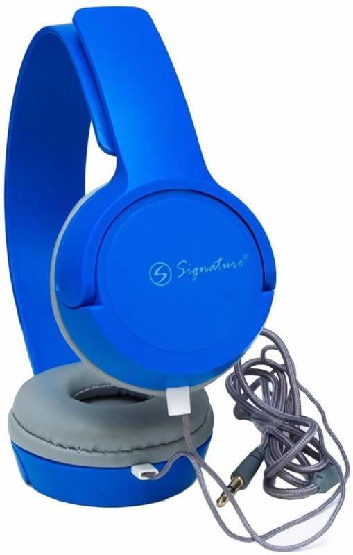 Signature vm-61 Headphone(Blue, Over the Ear)