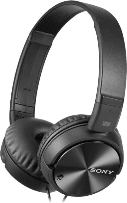 Sony MDR-ZX110NC Wired Headphone(Black, On the Ear)