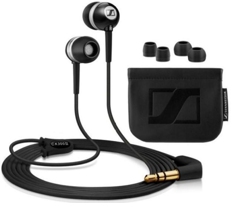Sennheiser CX 300-II Wired Headphones(Black, In the Ear)