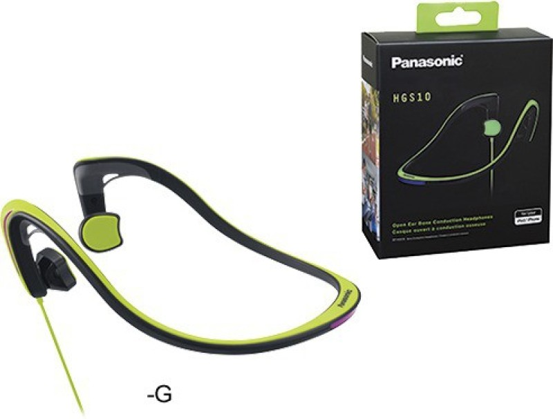 Panasonic RP-HGS10E-Bone Conduction Headphone(Green, In the Ear)