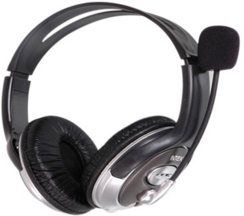 Intex USB Magna Headphone(Black, Over the Ear)