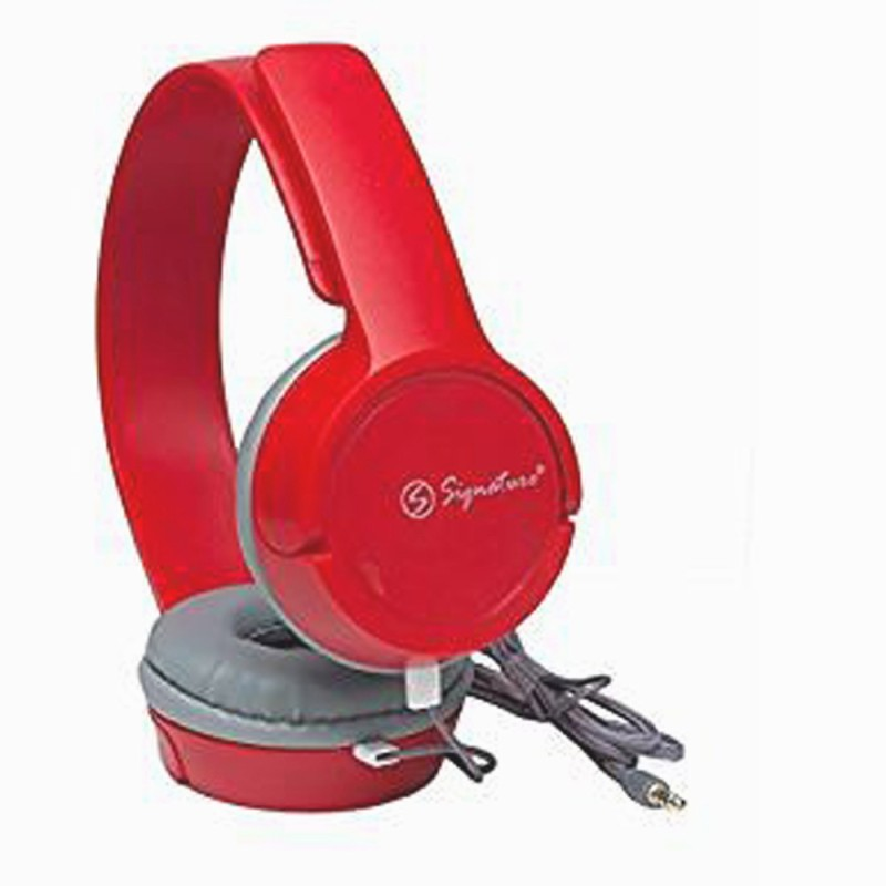 Signature VM-61 Headphone(Red, Over the Ear)