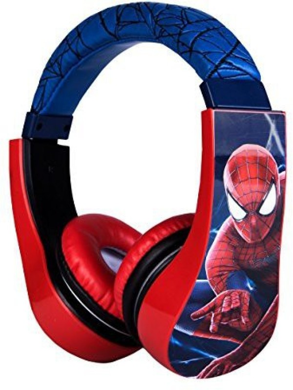 Sakar Spiderman Kid Safe Over The Ear Headphone W/ Volume Limiter, Styles May Vary (30344) Headphone(Multicolor)