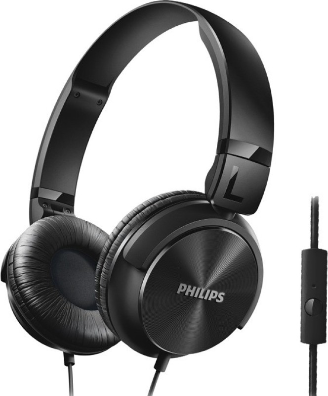 Philips SHL3195BK/94 Wired Headphone(Black, On the Ear)