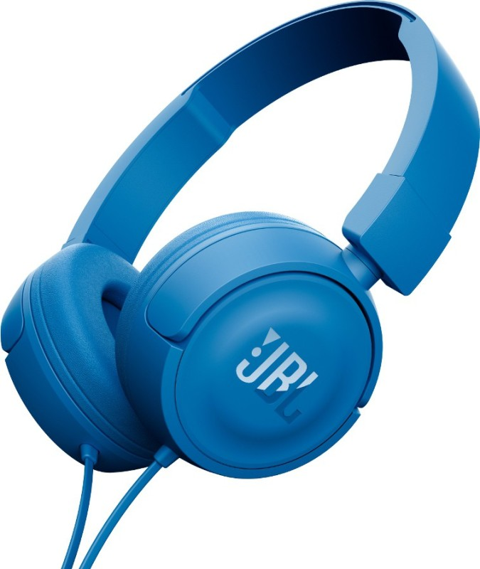 JBL T450 Headset with Mic(Blue, On the Ear)