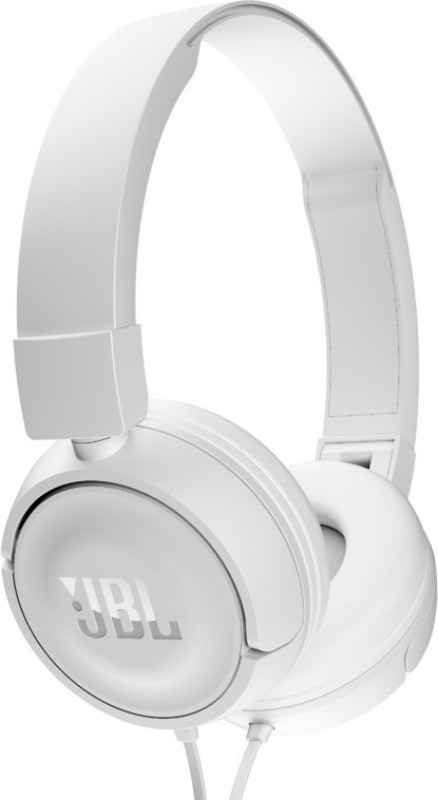 JBL T450 Headset with Mic(White, On the Ear)