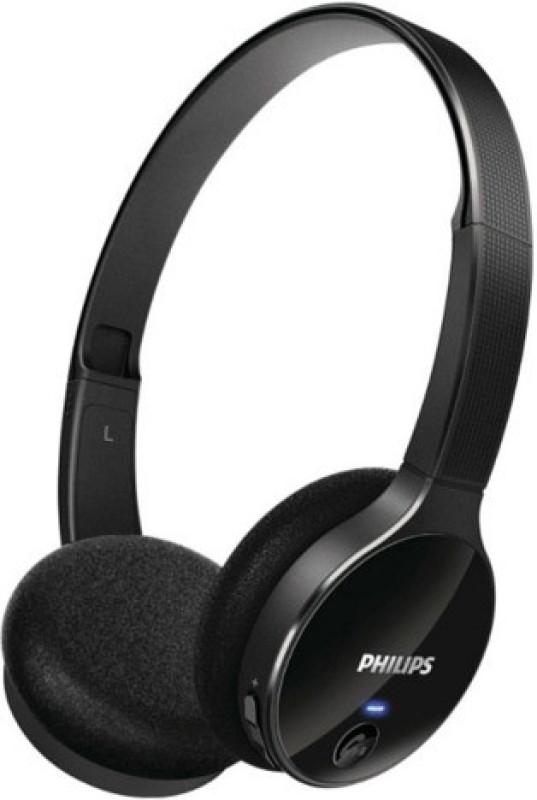 Philips SHB4000/00 Bluetooth Headphone(Black, On the Ear)
