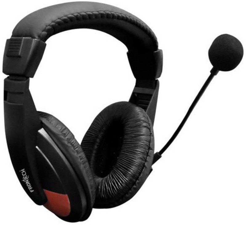 Frontech 3442 Wired Headphone(Black, Over the Ear)