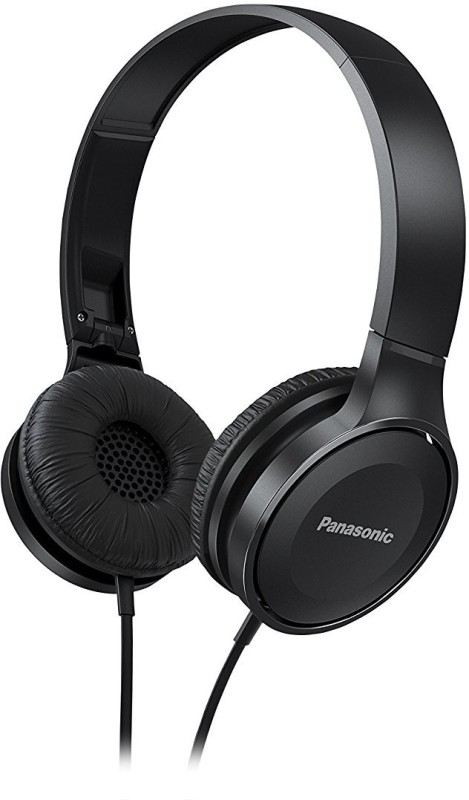Panasonic RP-HF100GC-K Headphone(Black, On the Ear)
