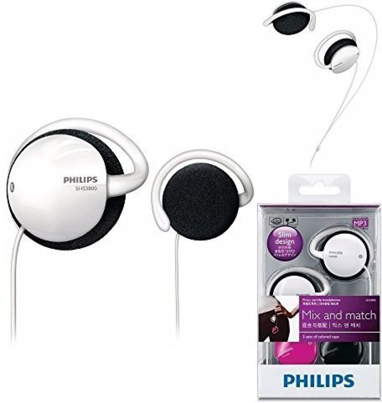 Philips Earclip Headphones Shs3800 Headphone(White)