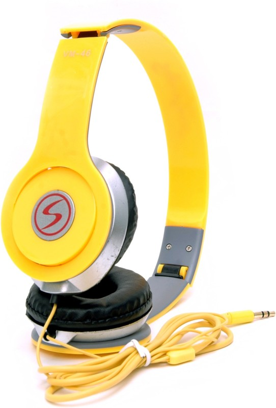 Signature VM-46 Headphone(Yellow, On the Ear)