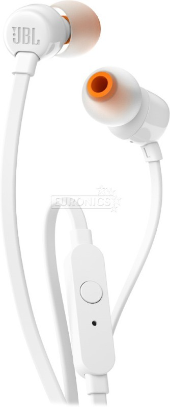 JBL T110 Headphone(White, In the Ear)