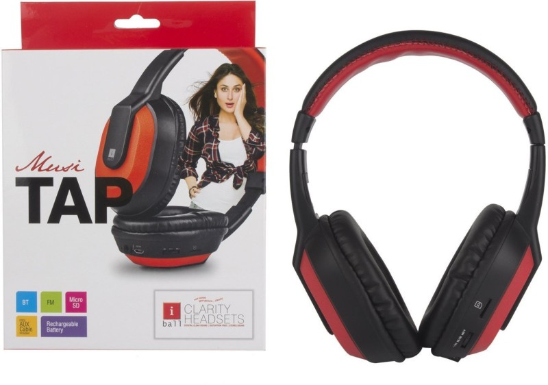 Iball musi tap Headphone(Black, Over the Ear)