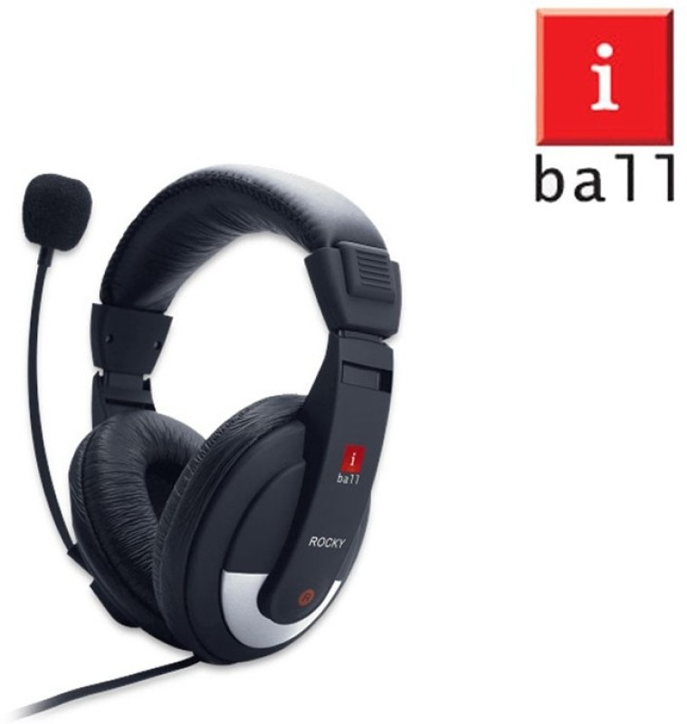 Iball Unico Headphone(Balck, Over the Ear)