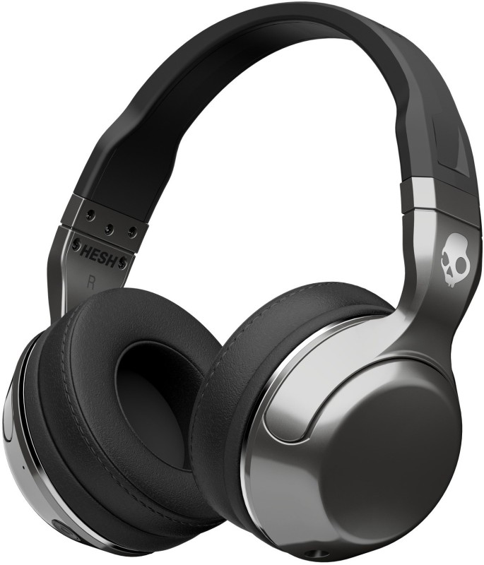 Skullcandy S6HBHY-516 Headphone(Silver Black, Over the Ear)