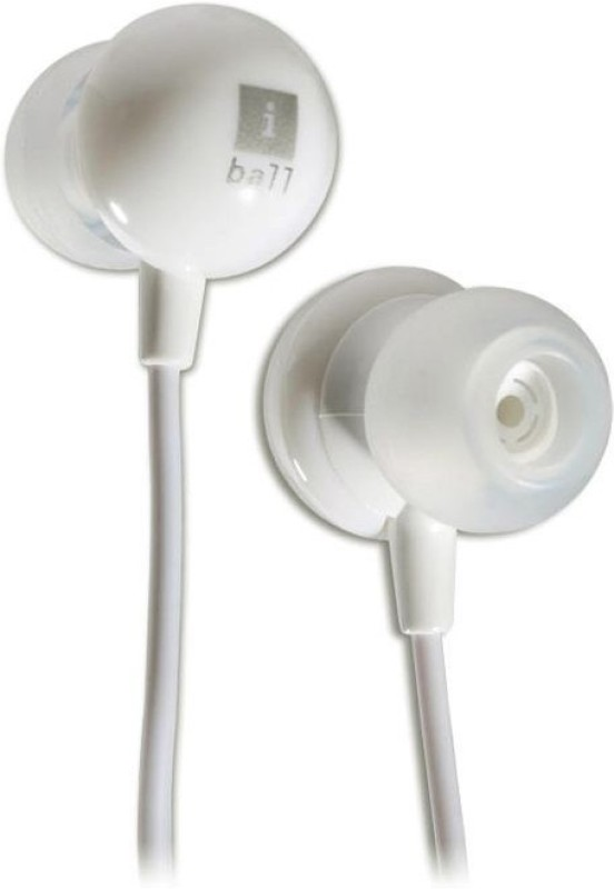 Iball Music Pearl Wired Headphone(White, In the Ear)