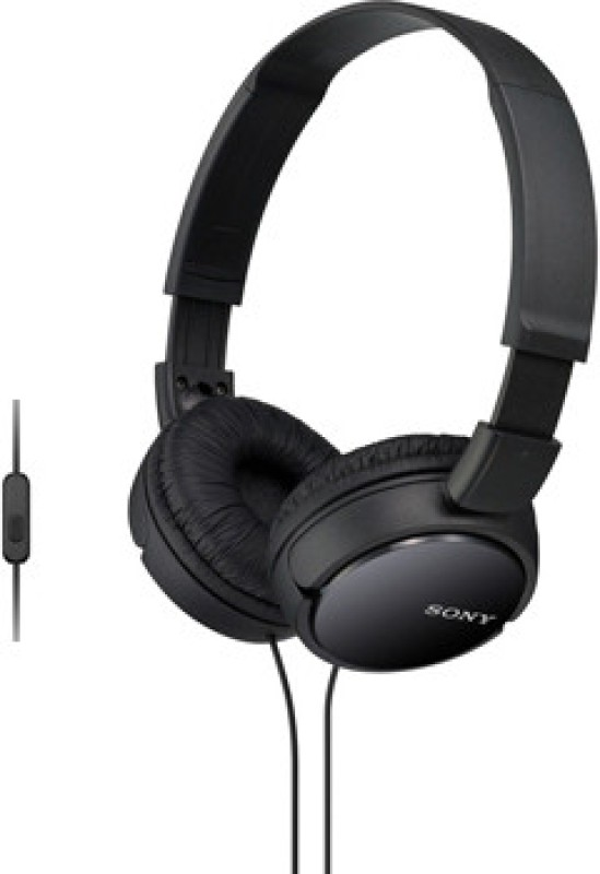 Sony ZX110-AP Wired Headset(Black, On the Ear)