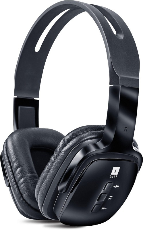 Iball Pulse-BT4 Bluetooth Headset with Mic(Black, Over the Ear)