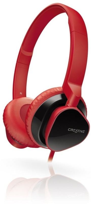 Creative HITZ MA2300 Headset with Mic(Red, Over the Ear)