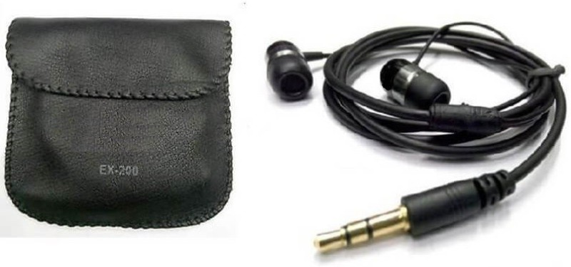 A Connect Z EX-200-Stylish good Sound Hdst-250 Wired Headset with Mic(Black, In the Ear)