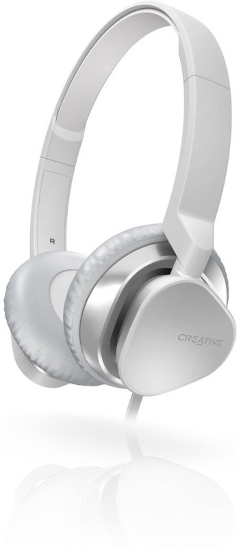 Creative HITZ MA2300 Headset with Mic(White, Over the Ear)
