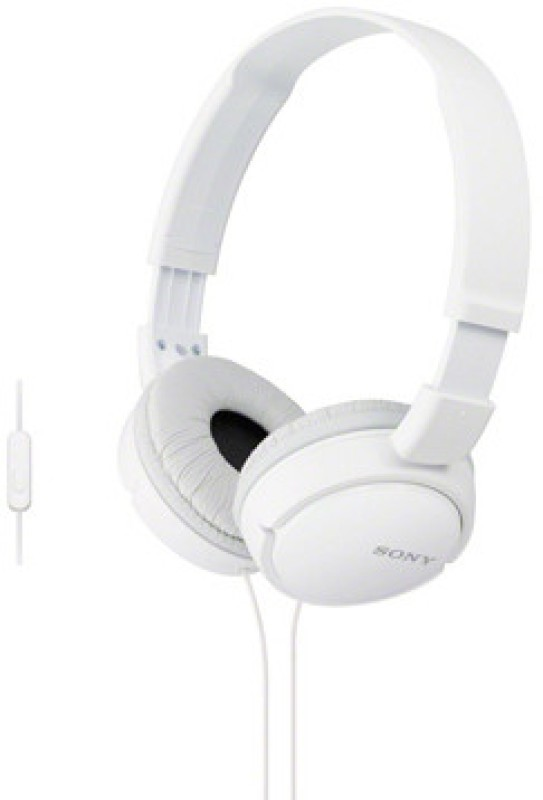 Sony MDR-ZX110-AP Wired Headset(White, On the Ear)