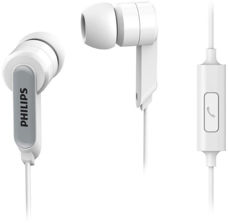 Philips SHE1405BK Wired Headset with Mic(White, In the Ear)