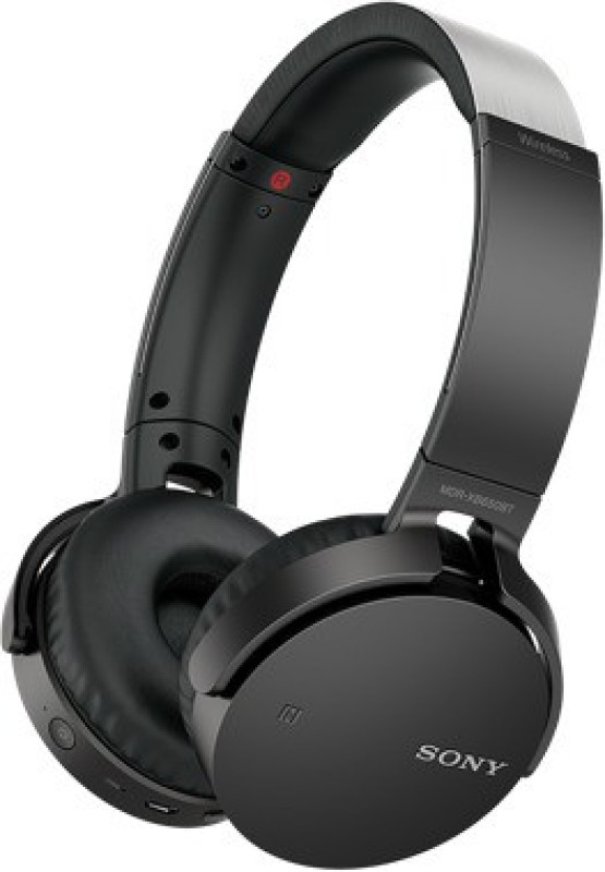 Sony MDR-XB650BT Extra Bass Wireless Headset with Mic(Black, Over the...