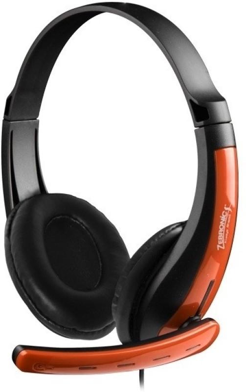 Zebronics ZEB-COLT Headset with Mic(Orange, Over the Ear)