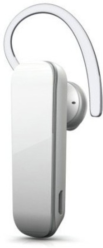 Callmate 703 Bluetooth Headset with Mic(White, In the Ear)