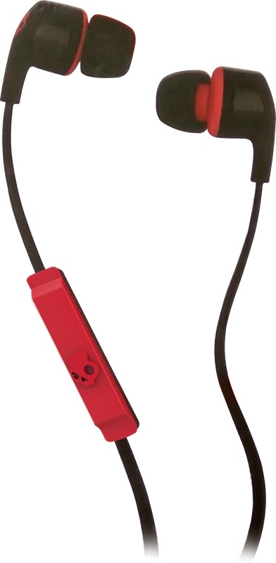 Skullcandy S2PGFY-010 Headset with Mic(Black & Red, In the Ear)