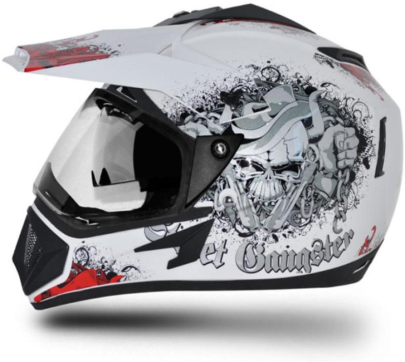 VEGA Off Road Motorbike Helmet(White, Black)