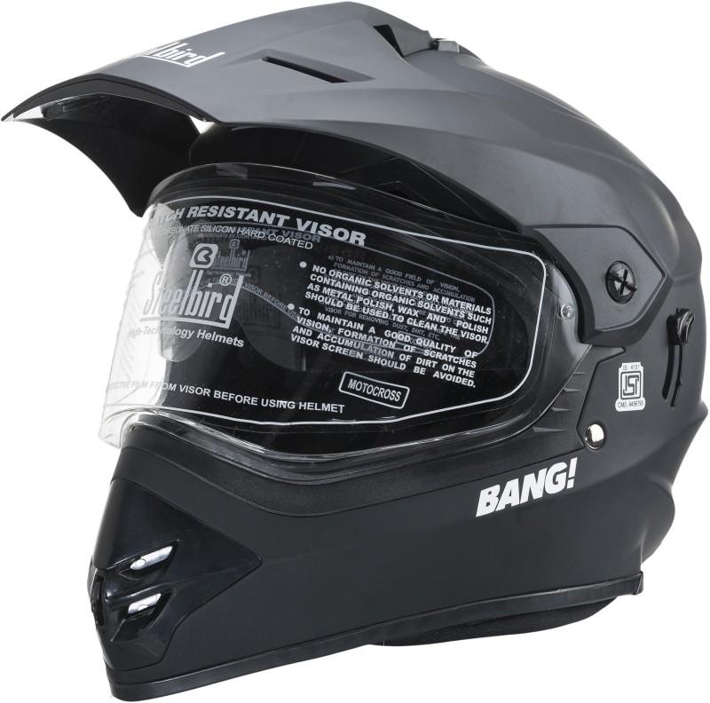 Steelbird SB-42 Matt Black Motorbike Helmet(Black)