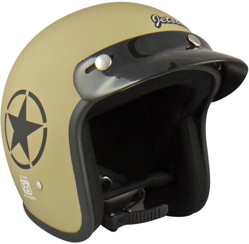 Anokhe Collections Retro JetStar Styled Motorbike Helmet(Desert Storm Matte)