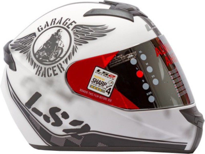 LS2 Rookie Fan Motorbike Helmet(White, Black)