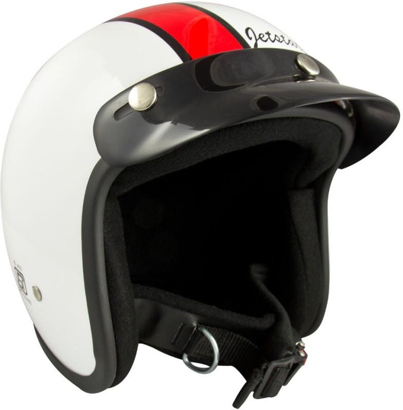 Anokhe Collections Jetstar Cruiser (ISI Certified) Motorbike Helmet(White Glossy)