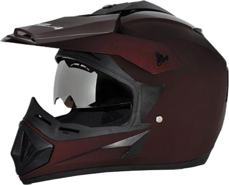 Vega Off Road D/V Motorsports Helmet(Dull Burgundy)