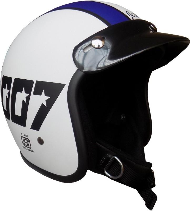 Anokhe Collections James Bond JetStar 007 Style Motorbike Helmet(Matte White)